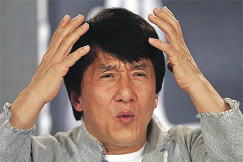 confused Jackie Chan